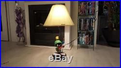 Extremely Rare! Looney Tunes Marvin the Martian with Lasergun Statue Lamp