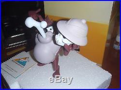 Extremely Rare! Looney Tunes Taz Eating Bones Demons & Merveilles Statue