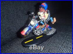 Extremely Rare! Looney Tunes Taz Tasmanian Devil on Motorcycle Figurin LE Statue