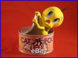 Extremely Rare! Looney Tunes Tweety Cat Food Demons & Merveilles Figurine Statue