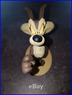 Extremely Rare! Looney Tunes Wile E Coyote Running Figurine Statue