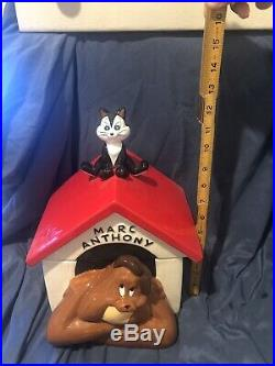 Extremely Rare Warner Bros Marc Anthony Dog House Cookie Jar 95