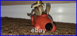 Extremely Rare Warner Bros Wile E. Coyote in an ACME Rocket Car Resin Statue