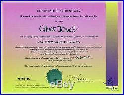 Framed, Chuck Jones SIGNED, Michigan J Frog RARE PRODUCTION Animation Cel withCOA