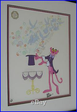 Friz Freleng PINK PANTHER Signed PINK MAGIC Paseo Verde RARE'79 CEL 1/200 COA
