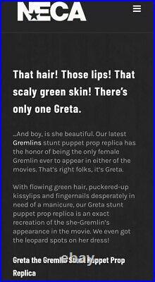 Greta Gremlins 2 prop. Neca. Rare. Discontinued. Ltd No 412 of 1000 world wide