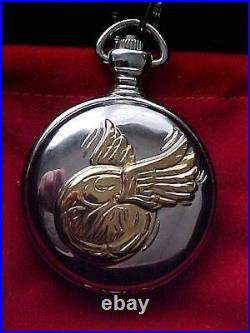 HARRY POTTER- RARE WARNER BROTHERS SNITCH POCKET WATCH WithDISPLAY BOX- GORGEOUS