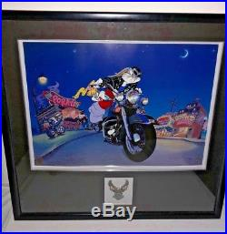 Harley Davidson Warner Brothers Bugs Bunny Cel Softail Sweethearts Rare Art Cell