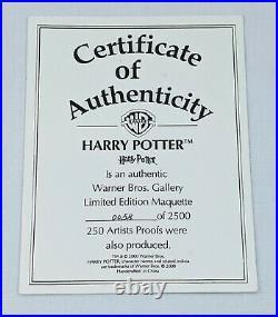 Harry Potter Maquette Warner Bros. With COA & Original Box RARE #0058/2500