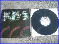 KISS 1974 Self Titled LP Rare White Label Promo AUCOIN WARNER BROS Casablanca