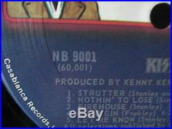 Kiss Self Titled Us Promo 1974 Nb 9001 Warner Bros Hype Vinyl Record Very Rare