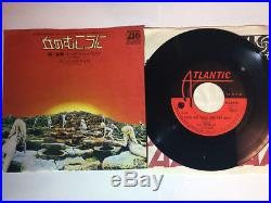 Led Zeppelin Over The Hills And Far Away Warner Bros P-1237a Japan/rare 7