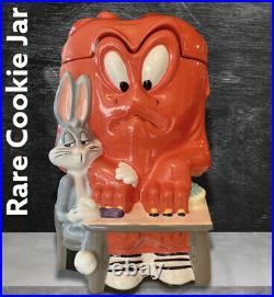 Looney Tunes Bugs Bunny & Gossamer Cookie Jar withoriginal box. RARE VINTAGE