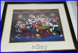 Looney Tunes Cel Warner Bros Bugs Bunny Speedy Yosemite It's A Gamble Rare Cell
