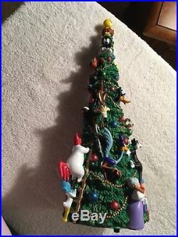Looney Tunes Musical & Lighted Christmas tree RARE NIB Warner Bros. Studio Store