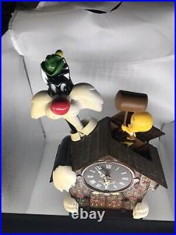 Looney Tunes Sylvester & Tweety Action, Talking & Music Cuckoo Clock 2000 Rare