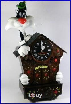 Looney Tunes Sylvester & Tweety Action, Talking & Music Cuckoo Clock NRFB Rare