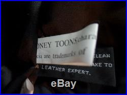 Looney Tunes Warner Brothers 1996 Nice And Rare Leather Jacket Men's Sz S Euc