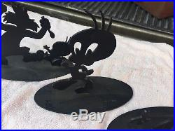 Lot Of 3 Very Rare Tex Welch Warner Brothers Sylvester & Tweety Metal Sculptures