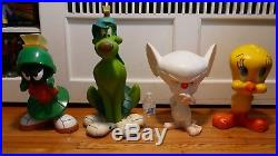 Lot of 4 Warner Bros. RARE Statues Marvin the Martian K-9 Pinky and Tweety 1998