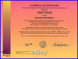 MARVIN MARTIAN Instant Martians RARE Warners Ltd Ed CEL Signed CHUCK JONES