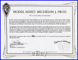 MICHIGAN J FROG MODEL SHEET RARE WARNERS Ltd Ed Hand Painted CEL