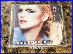 Madonna HOLLYWOOD Radio Remix Edits AUSTRALIAN MEGA RARE PROMO CD + PROMO SHEET