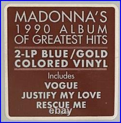 Madonna The Immaculate Collection Blue/Gold Colored Vinyl Double LP Rare OOP