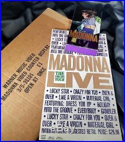 Madonna Virgin Tour Promo Counter Stand Display & Warner Bros Box Lot Rare