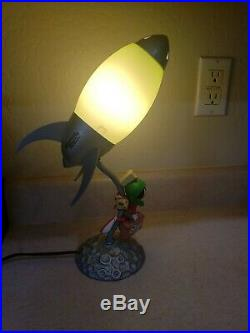 Marvin the Martian Rocket Lamp, Warner Brothers, RARE, No box. Good condition