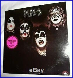 Mega RareKISS Promo Poster 1974 and White Label Promo Sticker LP