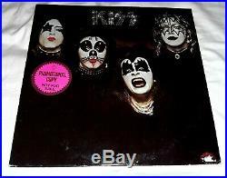Mega Rare KISS Self Debut Promo Sticker NBLP 9001 White Label 1974