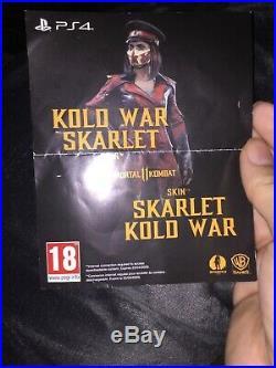 Mortal Kombat 11-mk11-skarlet-kold War Skin-ps4-very Rare