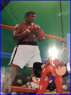 Muhammad ALI Empty The Glove Rare Warner Bros Cel Signed JSA COA