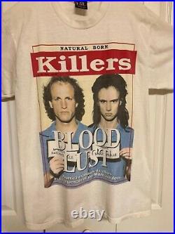 NATURAL BORN KILLERS original Rare VINTAGE promo t-shirt 1994 Great Cond