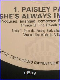 PRINCE Paisley Park Lettering Misprint 12 MAXI LP Very Rare Vinyl UK