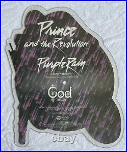 PRINCE- Purple Rain Very Rare UK Shaped Picture Disc (Moterbike/Shape/Vinyl)