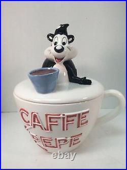 Pepe Le Pew Cookie Jar Caffe Cup Mug Looney Tunes Ceramic Warner Bros 1995 Rare
