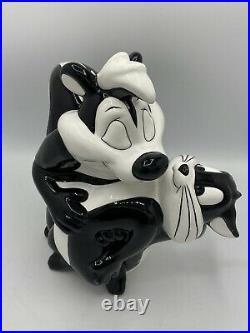 Pepe Le Pew & Penelope Cookie Jar WARNER BROS RARE Looney Tunes