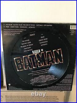 Prince 1989 batman picture disc LP Vinyl album v rare original die cut sleeve