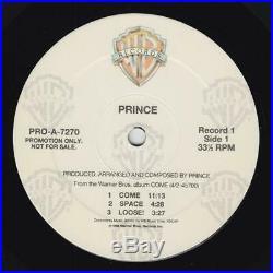 Prince Come RARE 2xLP Warner Bros Records PROMO (NM)