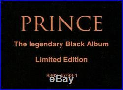 Prince Legendary Black Album Ltd. Ed. 1994 Germany Wb 9362-45793-1 Rare Vinyl