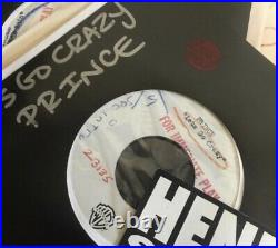 Prince Lets Go Crazy 7 Acetate Rare possibly the only 1 in existence
