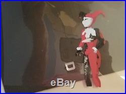 RAREBatman TAS Production 2 Cel AND Original Background Joker and Harley Quinn