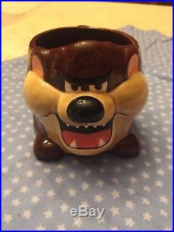 RARE 1989 Applause TAZ Tasmanian Devil Warner Bros Coffee Cup Mug Clark Griswold