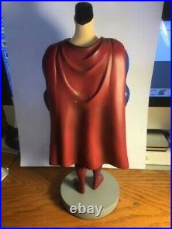 RARE! 1996 SUPERMAN MAQUETTE 12 WB Employees Studio Statue BOWEM Bruce Timm