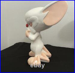 RARE 1997 PINKY AND THE BRAIN Statues Great Cond WARNER BROS 11in & 14in Tall