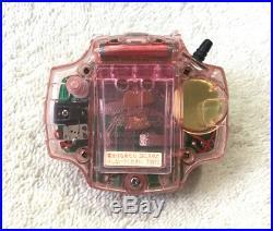 RARE Bandai Digimon Digivice D-Power D-Ark D2 Clear Pink 1999 + Manual TESTED