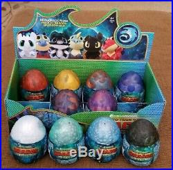 RARE How To Train Your Dragon The Hidden World Plush Eggs Set Of 10 NWT