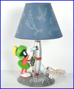 RARE Marvin the Martian Desk Lamp & Shade Rocket Telescope Looney Tunes